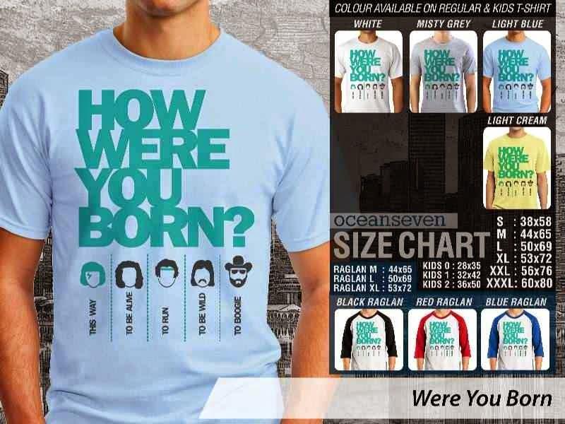 Jual Kaos 9Gag Lucu Meme Were You Born distro ocean seven