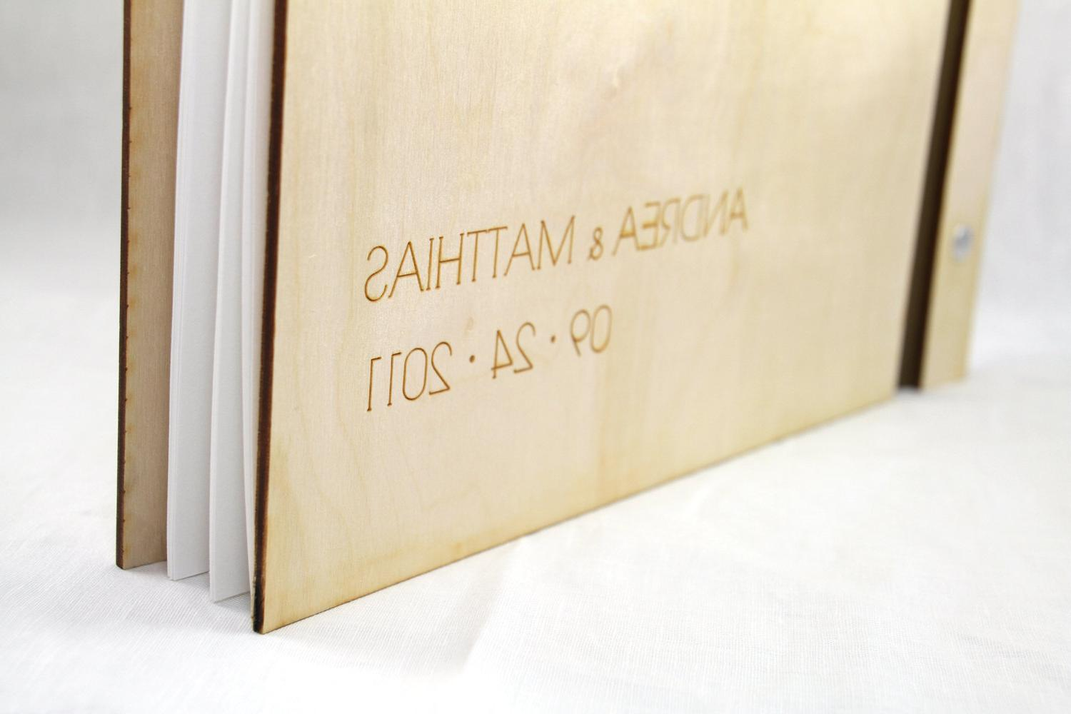 Custom Wedding WOOD Guest Book