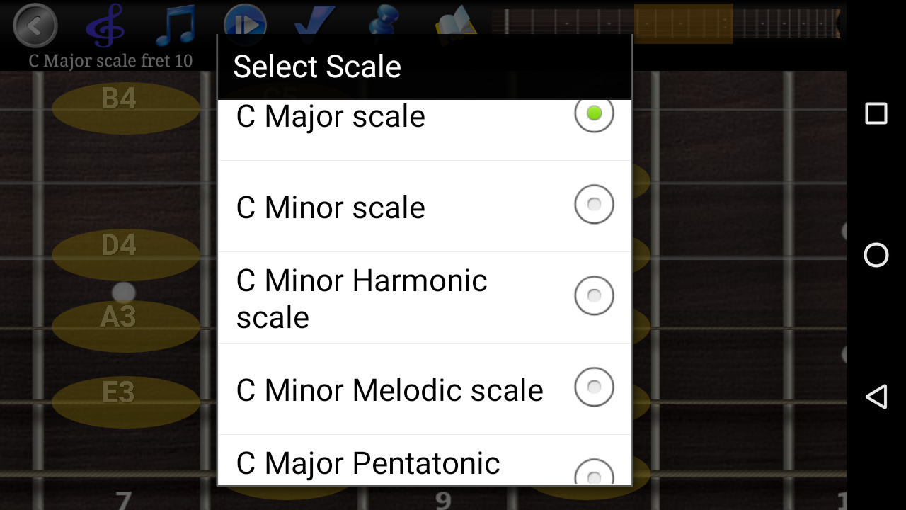 Guitar Scales & Chords Pro Screenshot 2