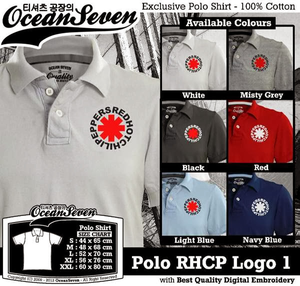 POLO RHCP Red Hot Chili Peppers Logo distro ocean seven