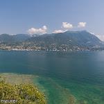Sicht auf den Westufer des Gardasees / Вид на западный берег озера Гарда