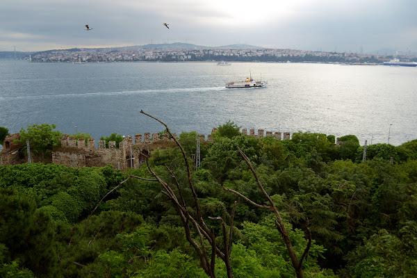 Панорама стамбул пролив босфор европа азия мраморное море