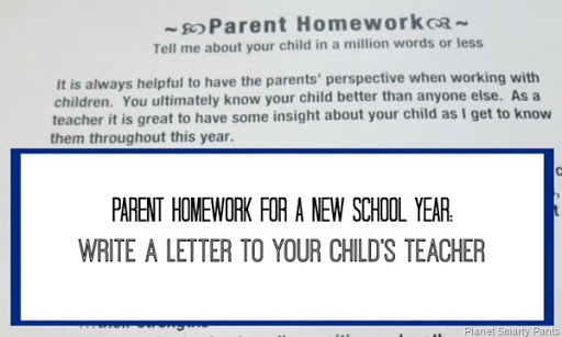 letter from teacher to parents