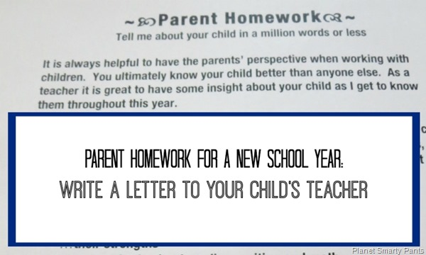 write a letter to your kids new teacher