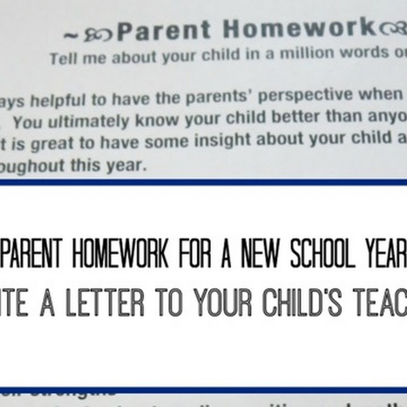 A Letter to a New Teacher of Your Child