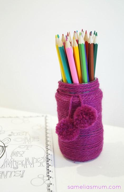 Pencil Pot - Yarn Project 1