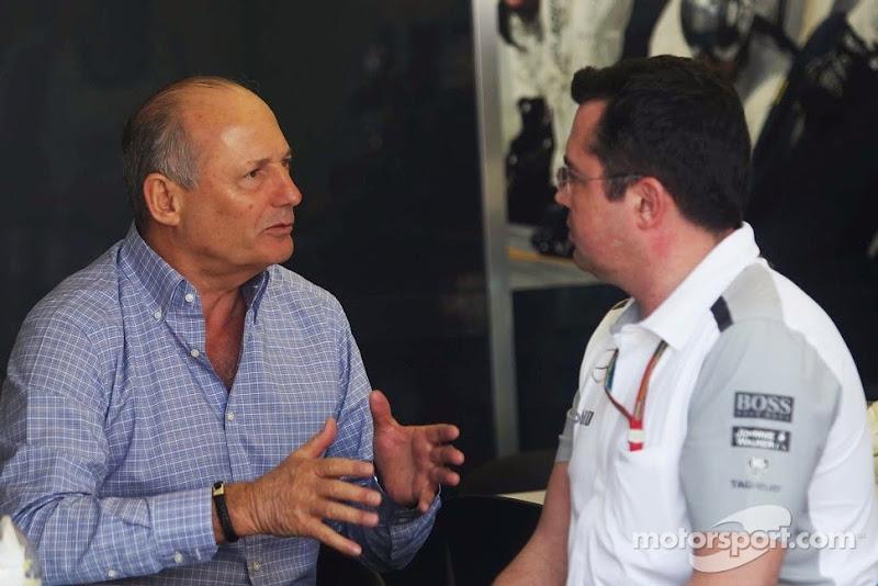 Рон Деннис и Эрик Буйе на Гран-при Австралии 2014