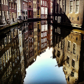 by Ludwig Wagner - Instagram & Mobile iPhone ( water, reflection, building, door, amsterdam, windows, architecture, canal )