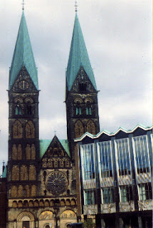 St. Peter's Church and the House of the Citizens, downtown Bremen, Germany.