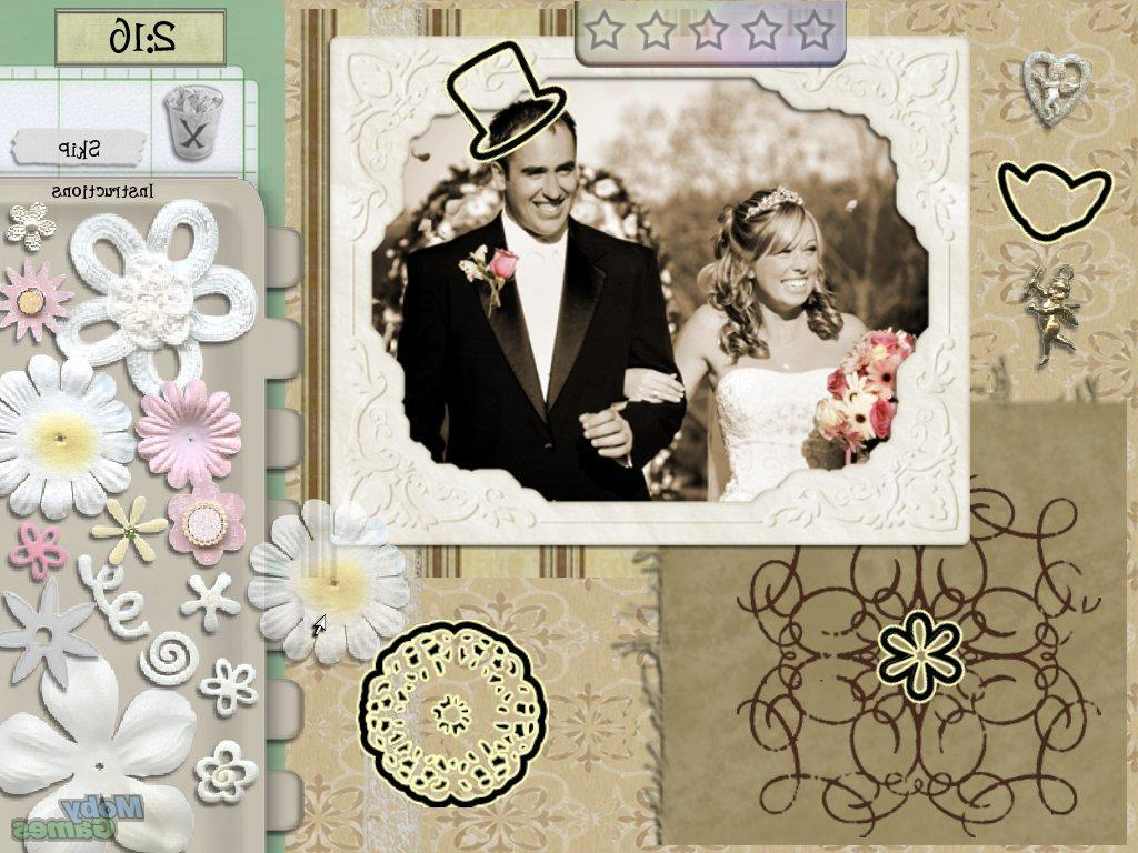 Screenshot: Wedding scrapbook