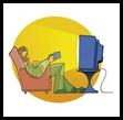 Hombre viendo la tele