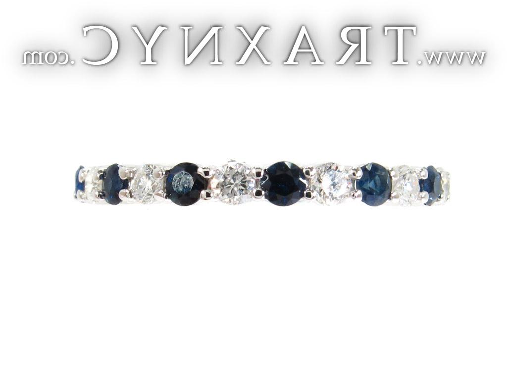 Full Size Picture for Blue Sapphire Diamond Ring
