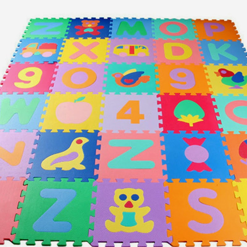 Tapis De Jeu Enfant Crawling Mat B B Dalles Mousse Educatif Imperm Able Trafic Ebay
