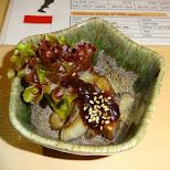 tasty salad with paste at Zauo self-fishing restaurant in Shinjuku, Tokyo - Japan in Shinjuku, Tokyo, Japan