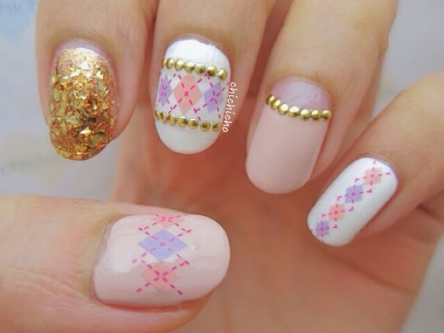 Argyle Diamond Water Decal Nail Art - chichicho~