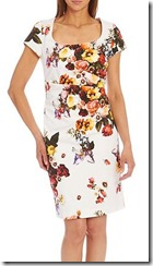 Vera Mont printed side ruched dress