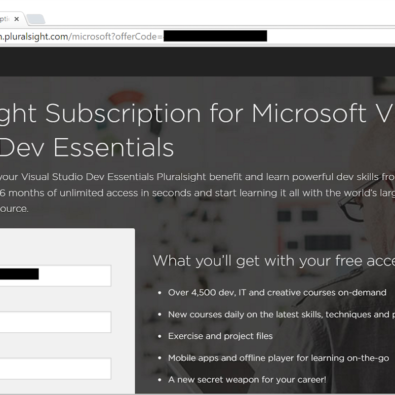 6 Months Pluralsight technical training FREE