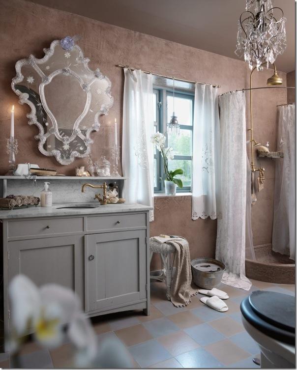 Bagno shabby chic e romantico case e interni - Bagno stile shabby ...