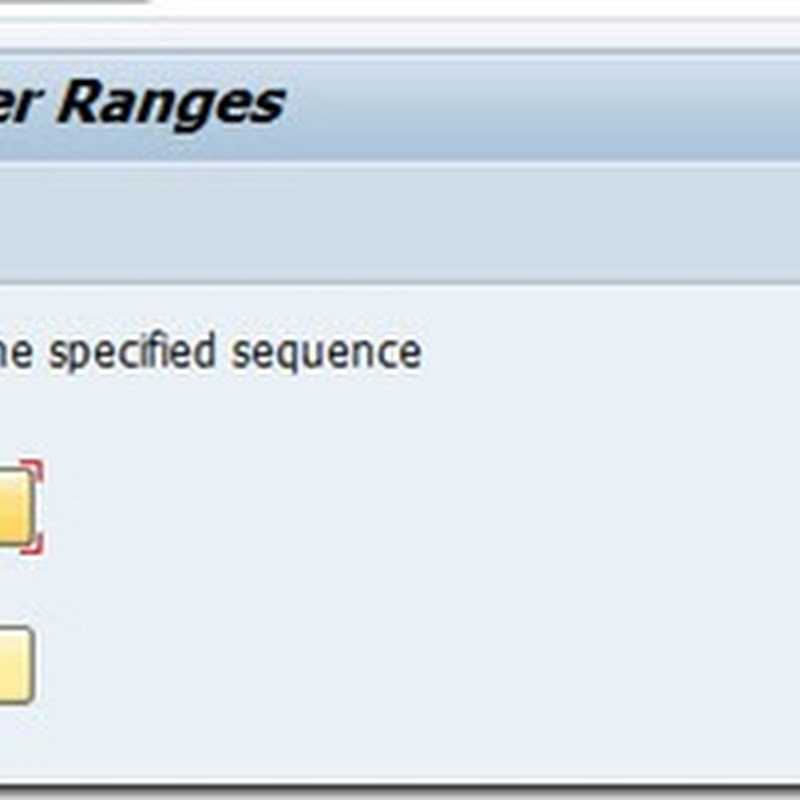 Define number range for vendor master record