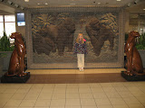 Hannah at the Amtrak station in Champaign IL 01142012a