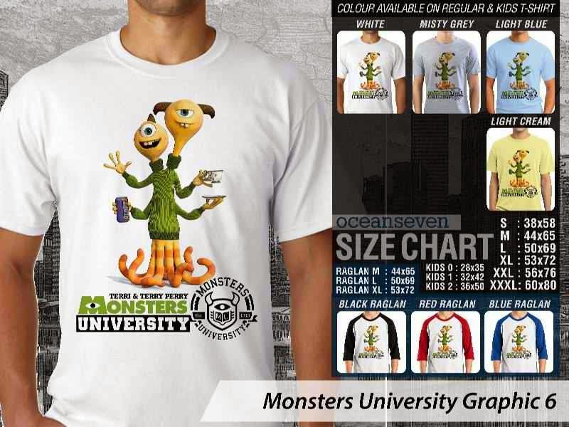 KAOS Monster University 16 Film Lucu distro ocean seven