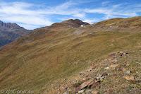 Kurz vor der Scheitelhöhe des Penser Joch (2211m).