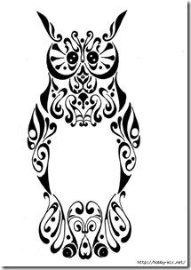 dibujos de buhod en blanco y negro (17)