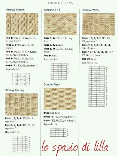 lo spazio di lilla: Punti ai ferri / Knitting stitches