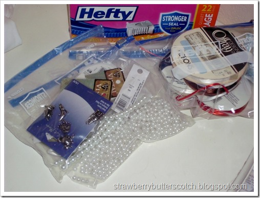 Using Slider Bags for Craft Supplies