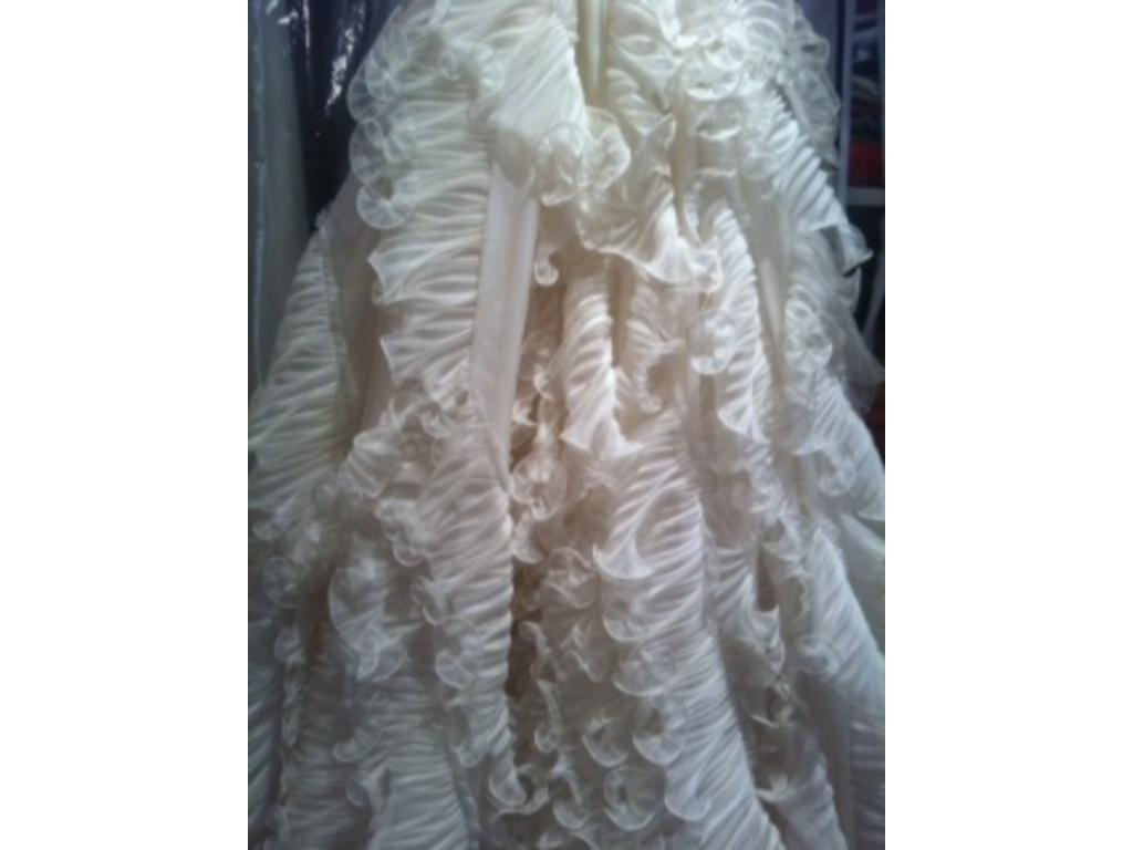 used wedding gown ivory tall