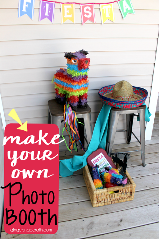 Make your own photo booth #photobooth #party