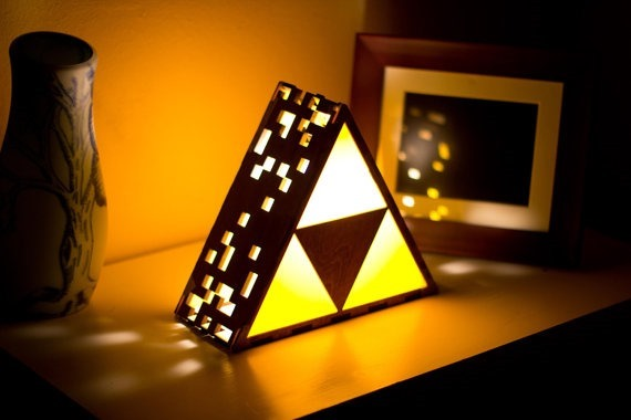 Zelda Triforce Lamp from The Back Pack Shop