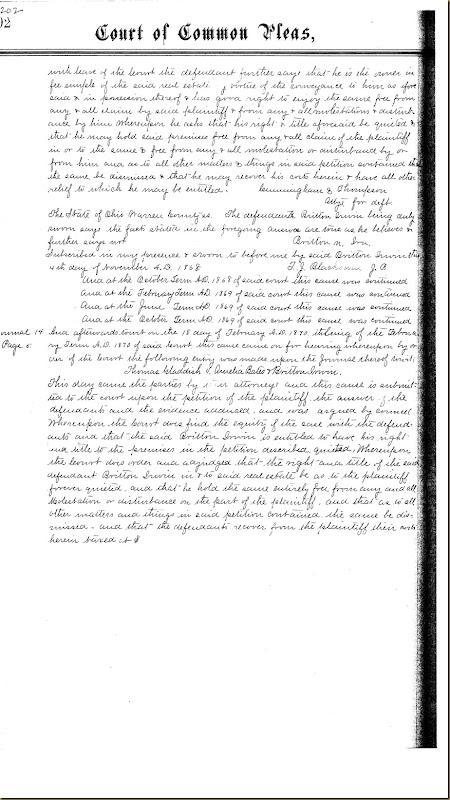 Britton Moore Irwin buys land Amelia Bates 1869 6