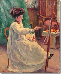 Maximilien-Luce-Young-woman-painting