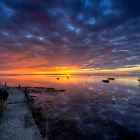 September mood by Kim  Schou - Landscapes Cloud Formations ( clouds, vensholm, kim schou, hdr, sunset, , HDR, Landscapes )
