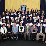 6th Year Academic Award winners at the Mulroy College Senior Prize Giving.  Photo:- Clive Wasson