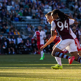 The Fight is Real by Corbin Elliott - Sports & Fitness Soccer/Association football ( colorado rapids, colorado rapids v. new england revolution, new england revolution, new england, dicks sporting goods park, commerce city colorado, colorado, mls, march 4th 2017, soccer )