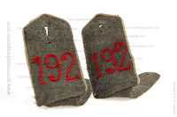 German WWI shoulder strapsof J.R. 192