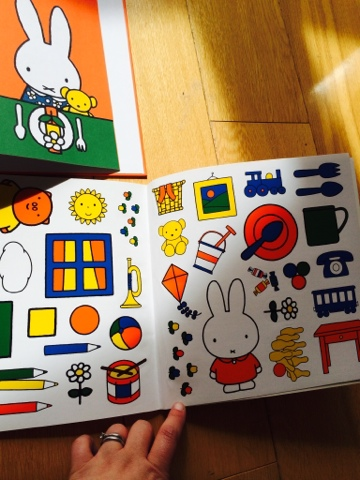 Miffy's Play Date is a lovely sticker book