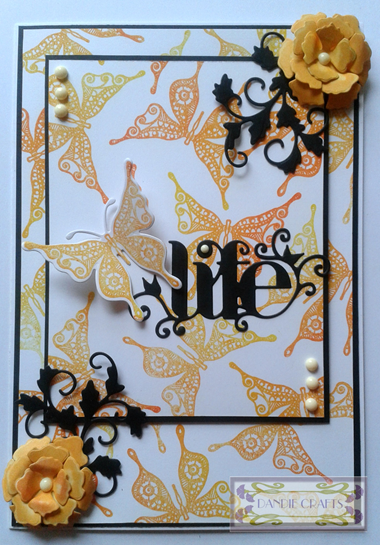 Felicity Butterfly Stamped Card - apr 15
