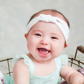 Adorable! by Jenny Hammer - Babies & Children Babies ( girl, adorable, baby, cute, smiles )
