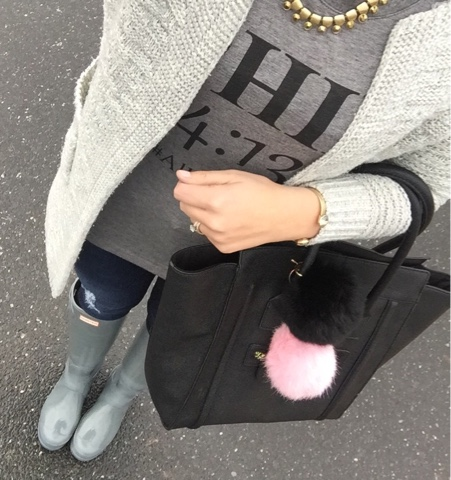 phil 4:13, how to wear hunter boots, gray cardigan