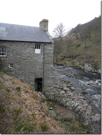 Old corn and saw mill Berriedale