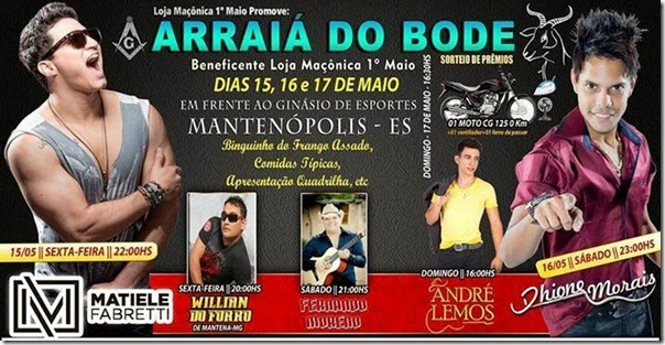 arraia do bode 2015 em mantenopolis