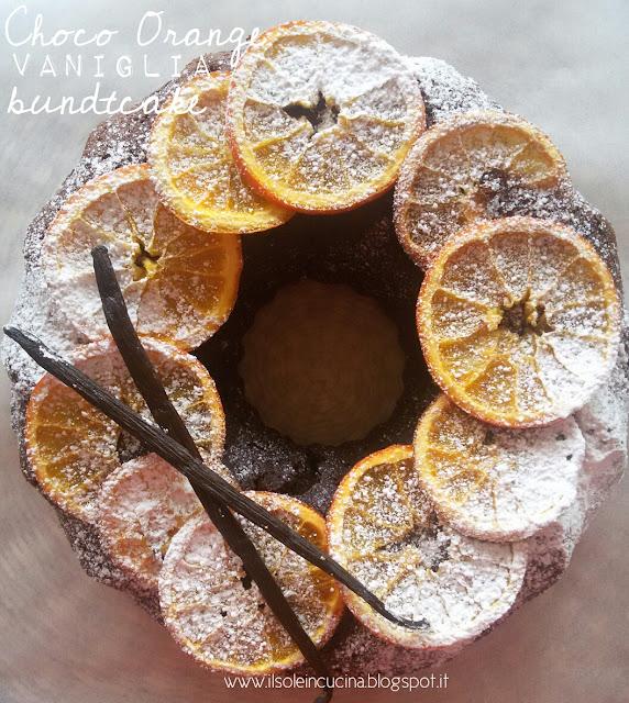 ciambella al cioccolato e arance di sicilia