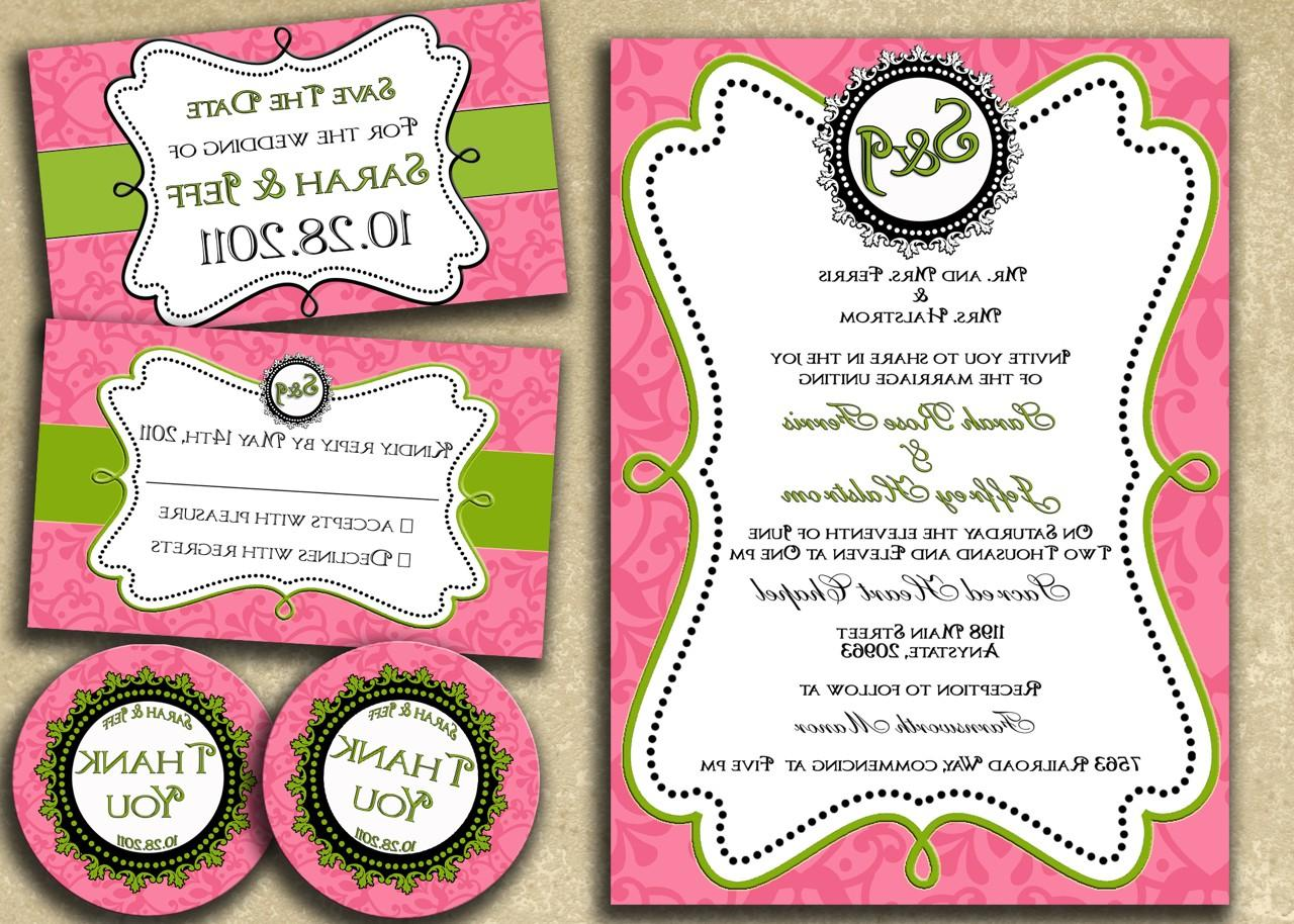 Printable Pink and Green