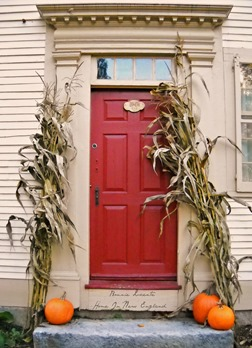 Fall door Reed Homestead