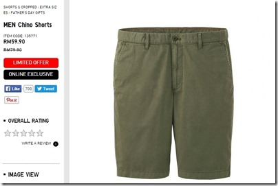 UNIQLO MEN Chino Shorts