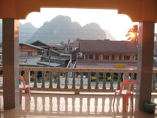 nowhere town in Laos that