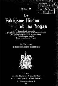 Cover of Paul Sedir's Book Le Fakirisme Hindou et les Yogas (1911,in French)